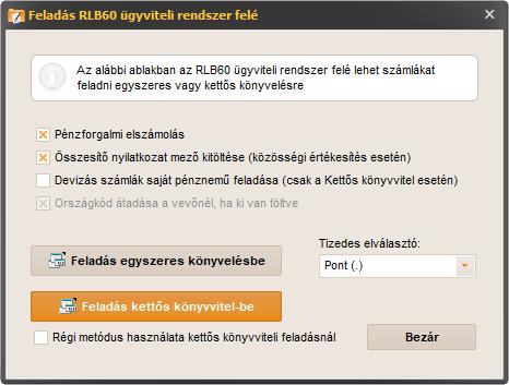 opciós könyvelés)