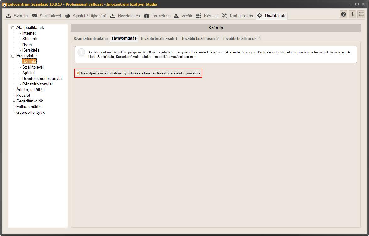 282ab45c0f Távszámla készítés - InfoCentrum a számlázó specialista